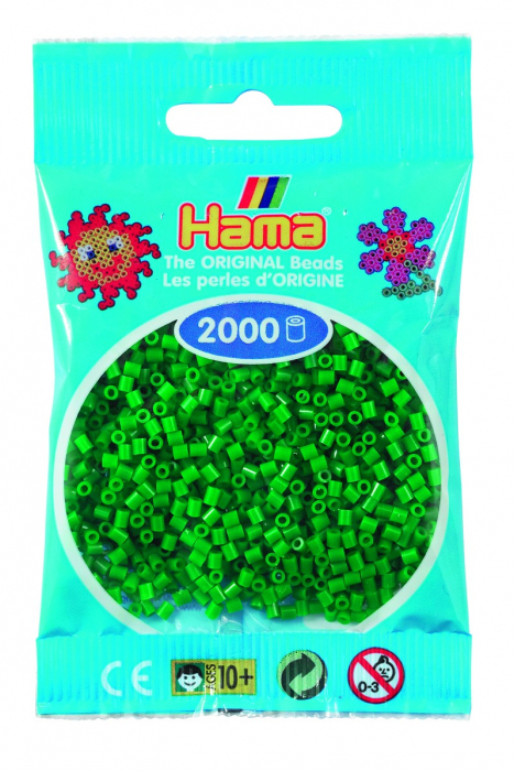 2000 mărgele Hama MINI în punguliță - verde [0]