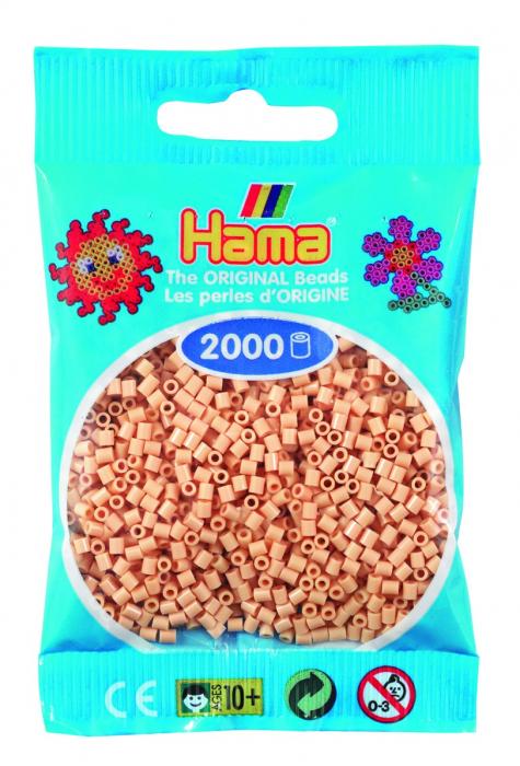 2000 mărgele Hama MINI în punguliță - bej [0]