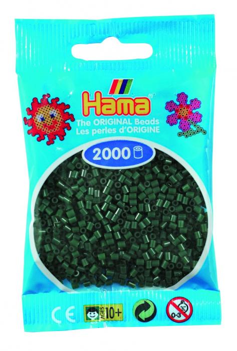 2000 mărgele Hama MINI în punguliță - verde închis [0]