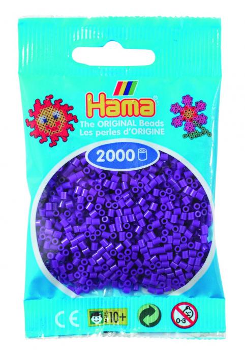 2000 mărgele Hama MINI în punguliță - mov [0]