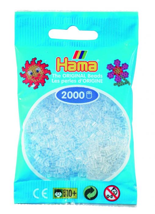 2000 mărgele Hama MINI în punguliță - transparent [0]