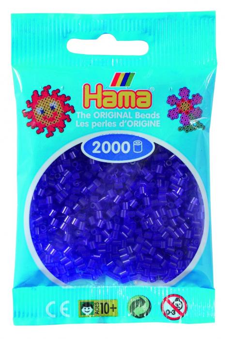 2000 mărgele Hama MINI în punguliță - mov transparent [0]