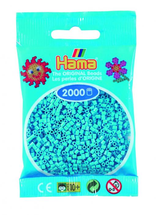 2000 mărgele Hama MINI în punguliță - azur [0]