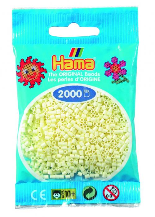 2000 mărgele Hama MINI în punguliță - crem [0]