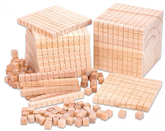 Set de numărare în sistem zecimal din lemn în cutie din plastic [3]