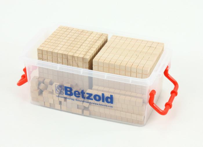 Set de numărare în sistem zecimal din lemn în cutie din plastic [1]