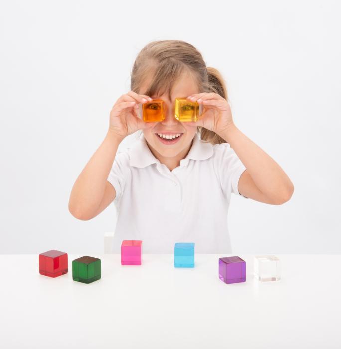 Set de 8 cuburi de percepție senzorială 2