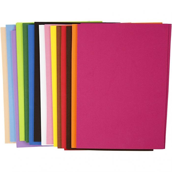 30 foi A4 de hârtie gumată culori asortate 0