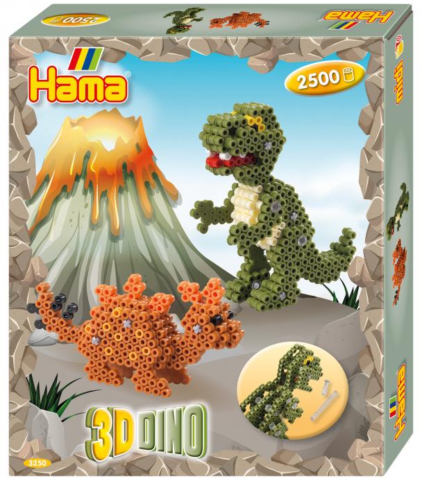 3D Dino, 4000 mărgele Hama midi în cutie [0]