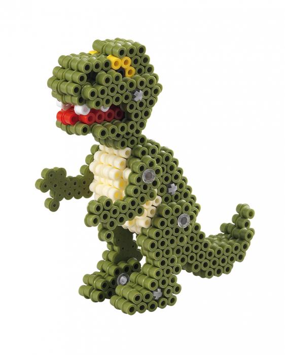 3D Dino, 4000 mărgele Hama midi în cutie [2]
