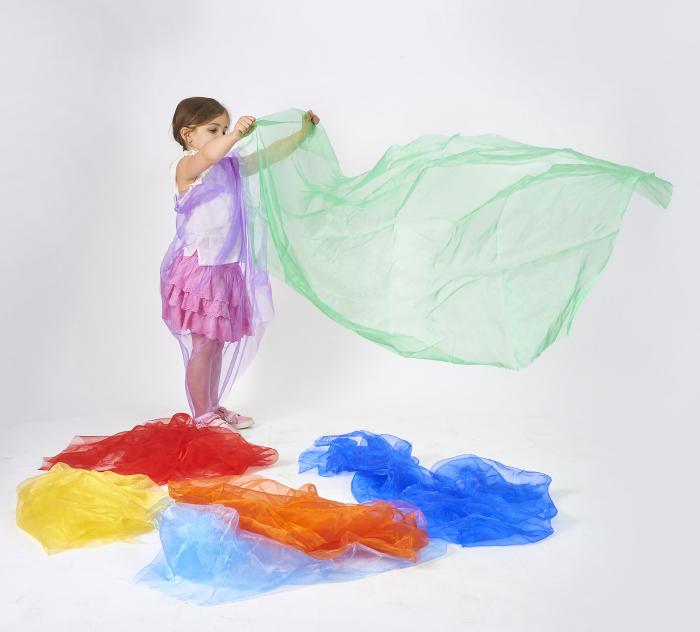 Pachet de țesături organza în culorile curcubeului 3