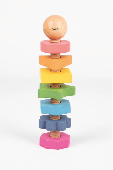 Piulițe mari din lemn de diferite forme și culori 0