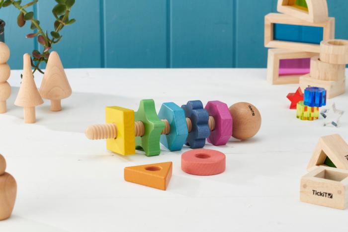 Piulițe mari din lemn de diferite forme și culori 2