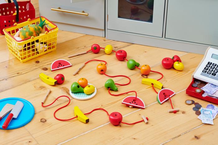 Fructe din lemn pentru înșirat 3