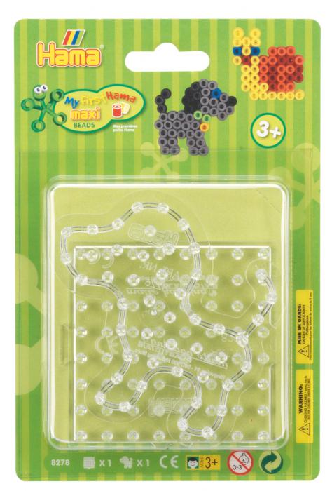 Set 2 planșete transparente Hama maxi 01 în bășică [0]