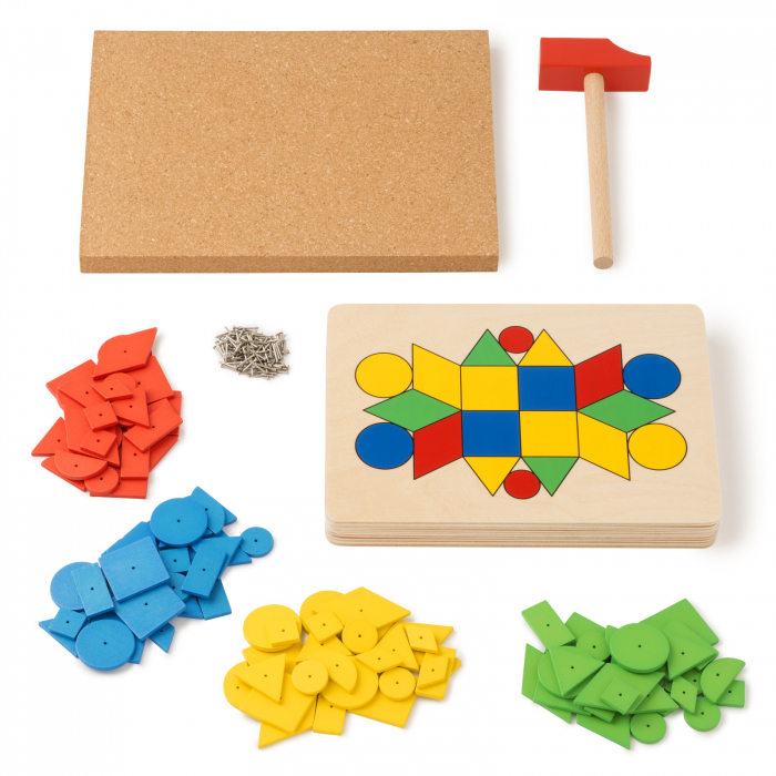 Joc de dezvoltare cognitivă și motricitate fină, Ciocănele [0]