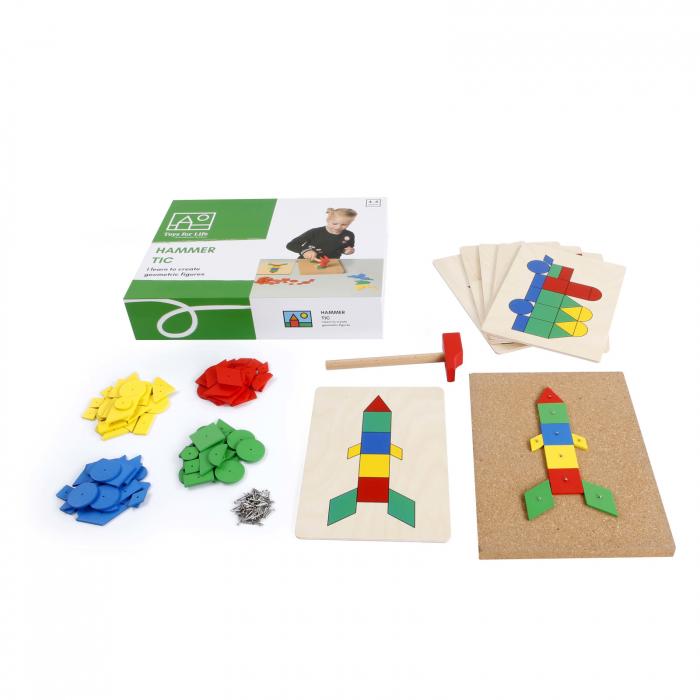 Joc de dezvoltare cognitivă și motricitate fină, Ciocănele [1]