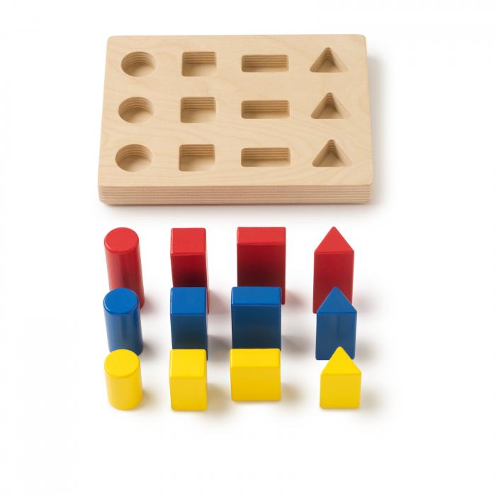 Joc de dezvoltare cognitivă, Sortarea blocurilor 0