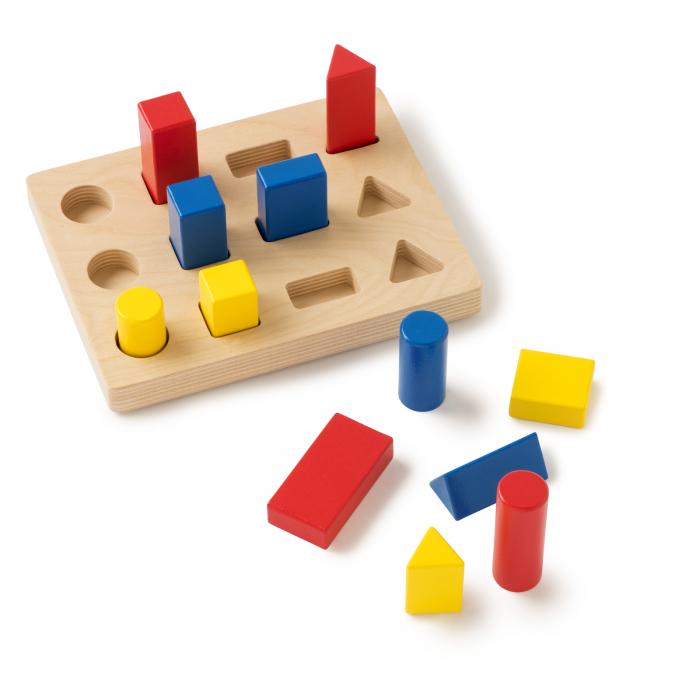 Joc de dezvoltare cognitivă, Sortarea blocurilor 1