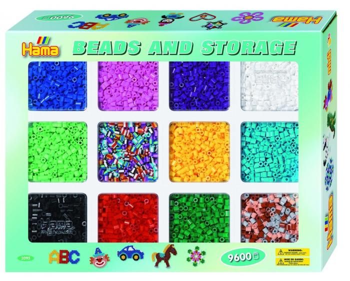 9600 margele HAMA MIDI 10 culori + 2 mixturi in cutie 0