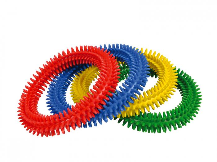 Set de 4 inele cu țepușe de stimulare senzorială Aku Ring 0