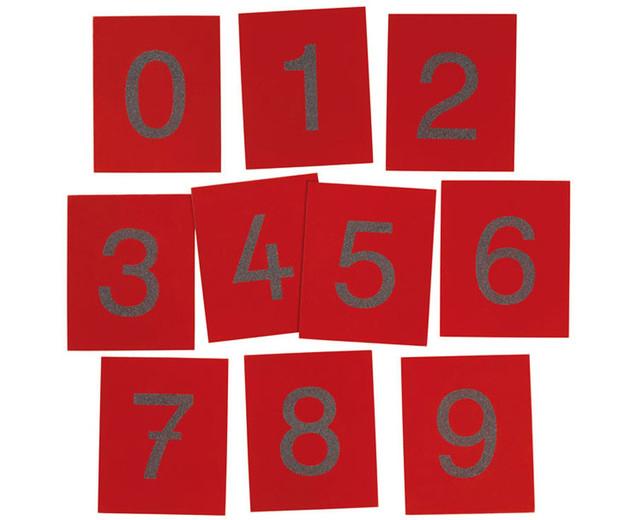 Set de numere din șmirghel 0