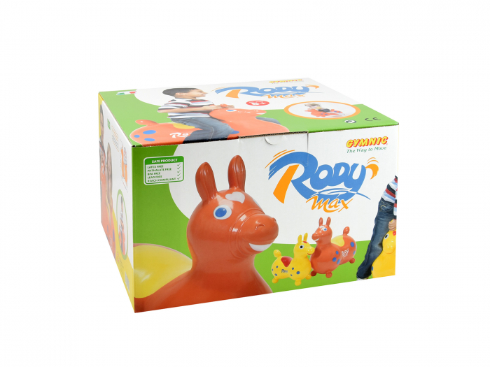 Căluțul săltăreț Rody Max portocaliu 1