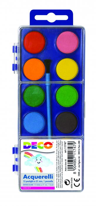 Acuarela 12 culori diametru pastila 21mm [0]