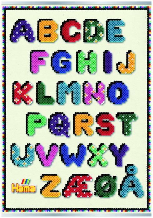 Afis ALFABETUL - litere din margele MIDI 0
