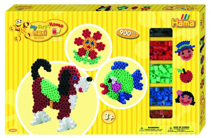 ANIMALE - 900 margele HAMA MAXI in cutie de cadou MARE 0
