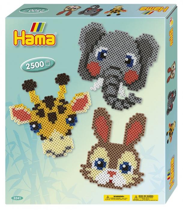 ANIMALE AFRICANE - 2500 margele HAMA MIDI in cutie 0