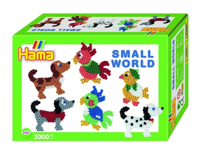 ANIMALE MICI - 2000 mărgele HAMA MIDI în cutie cadou MIC 0