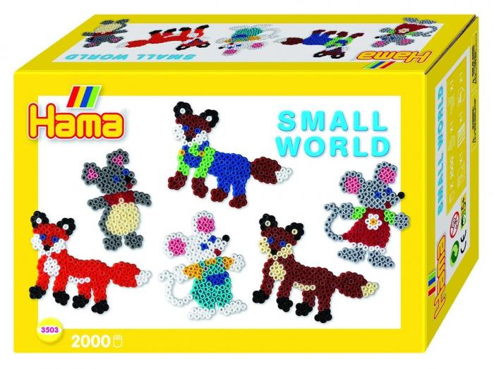 ANIMALE SĂLBATICE - 2000 mărgele HAMA MIDI în cutie cadou MIC 0