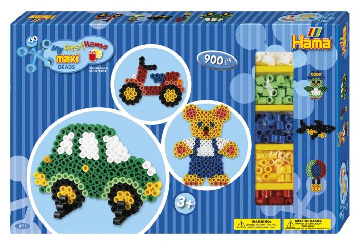 BAIETI 02 - 900 margeleHAMA  MAXI in cutie de cadou MARE 0
