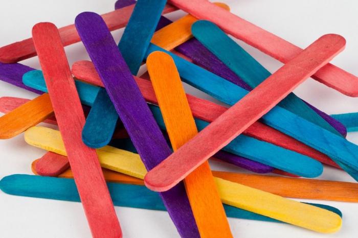 Bețe colorate de înghețată, Ocaldo, 11 x 1 cm, set de 200 bucăți [0]