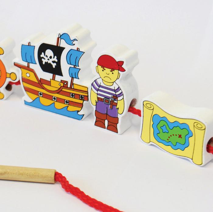 Blocuri pentru înșirat - pirați 2