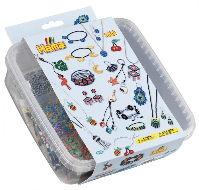 BRATARI - 10500 margele HAMA MINI in cutie de plastic 0