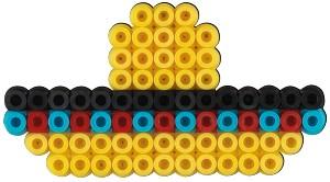 Set de 2000 mărgele HAMA MIDI cu 1 planșetă de lucru în cutie cu agățător Alpaca 1