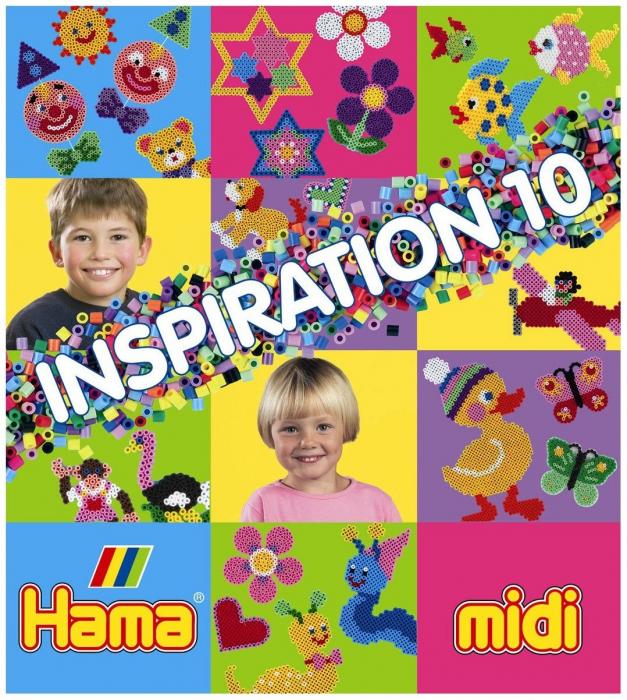 Carte cu modele colorate HAMA MIDI, INSPIRATII 10 0