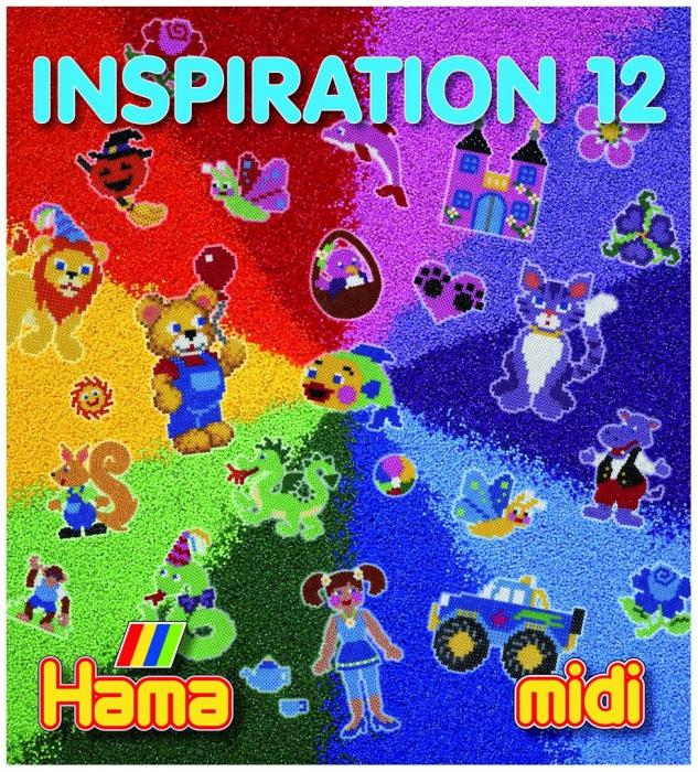 Carte cu modele colorate HAMA MIDI, INSPIRATII 12 0