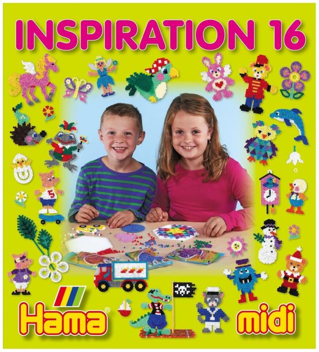 Carte cu modele colorate HAMA MIDI, INSPIRATII 16 0