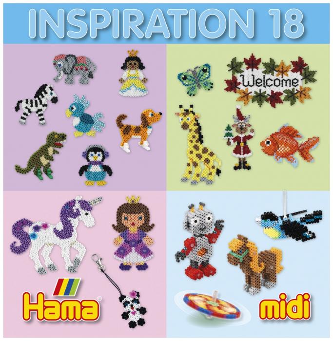 Carte cu modele Inspiratii 18 - modele pentru Margele Hama Midi 0