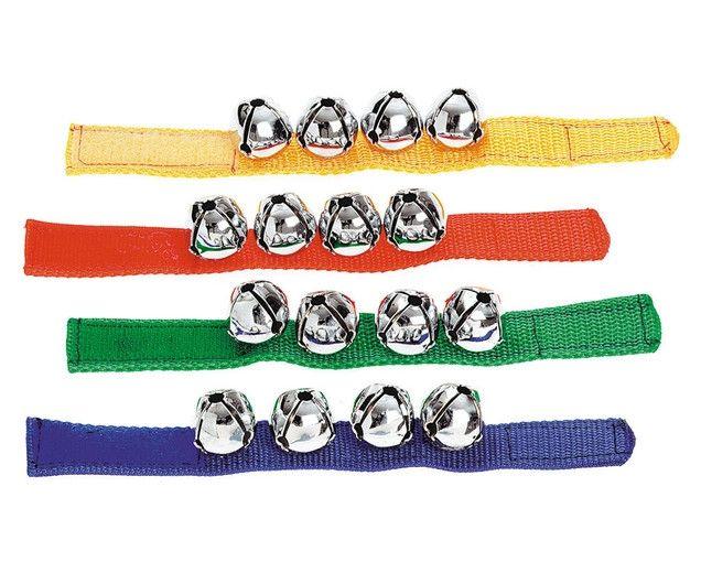 Clopoțel de încheietură - brățară cu 4 clopoței, Commotion, set de 2 brățări 0