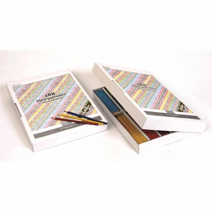 Creioane hexagonale colorate normale 288 buc 0