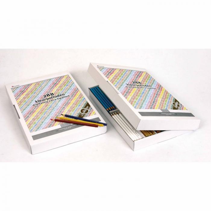 Creioane triunghiulare colorate normale 288 buc 0