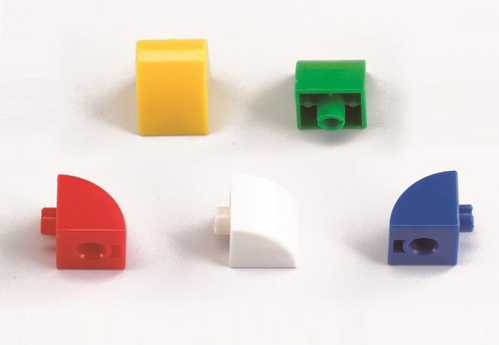 Cuburi de construcții interconectabile, Edx Education, set de 500 bucăți, multicolor 2