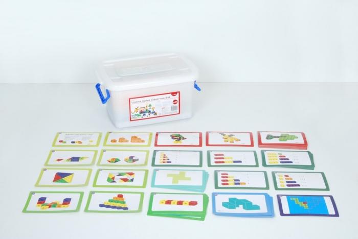 Cuburi de construcții interconectabile, Edx Education, set de 500 bucăți, multicolor 1