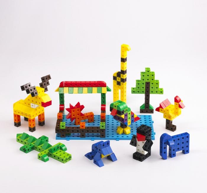 Cuburi de construcții interconectabile, Edx Education, set de 500 bucăți, multicolor 0