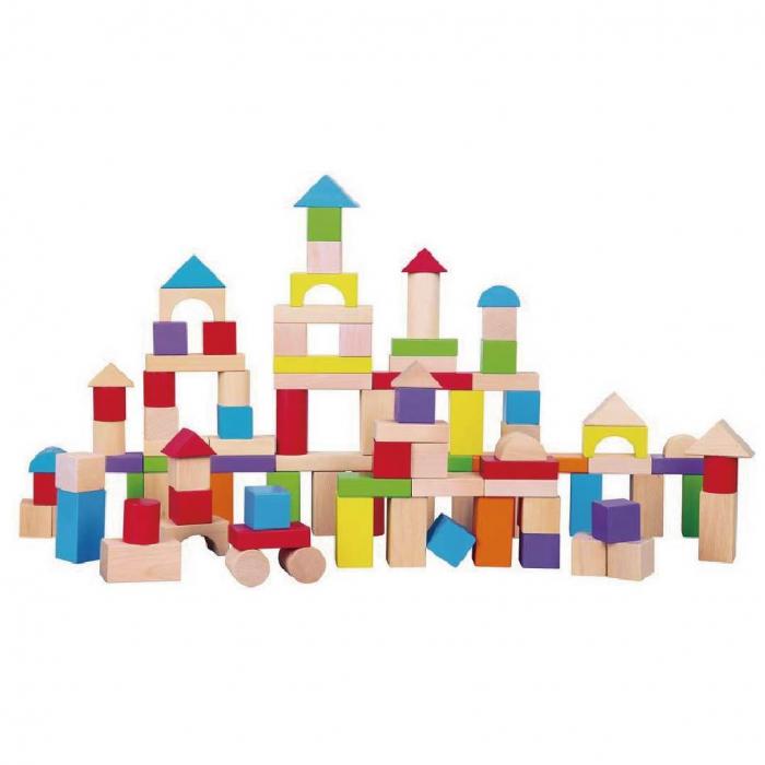 Cuburi de lemn colorate 0