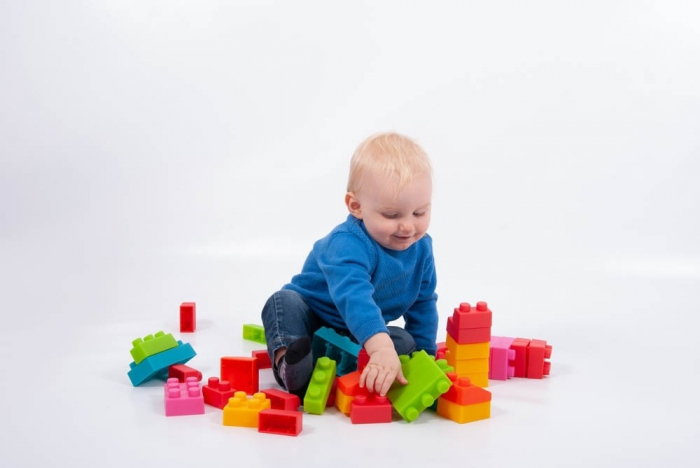 Cuburi de plastic moale, TickiT, set de 45 cuburi, multicolor 0